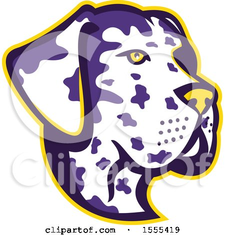 Clipart of a Retro Great Dane Dog Mascot Head - Royalty Free Vector Illustration by patrimonio