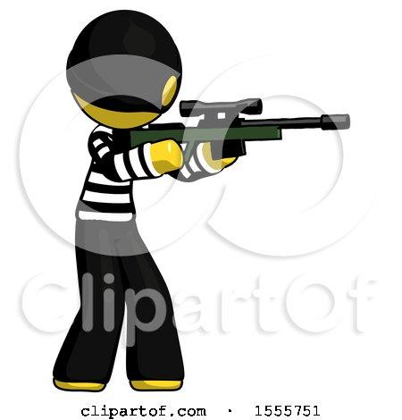 Yellow Thief Man Shooting Sniper Rifle by Leo Blanchette