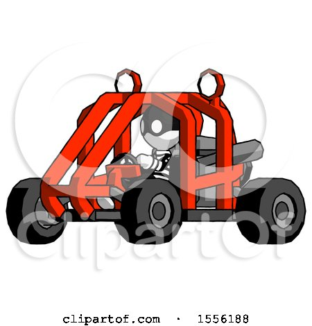 White Thief Man Riding Sports Buggy Side Angle View by Leo Blanchette