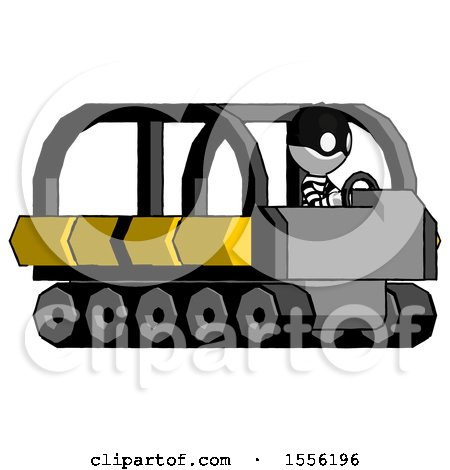 White Thief Man Driving Amphibious Tracked Vehicle Side Angle View by Leo Blanchette