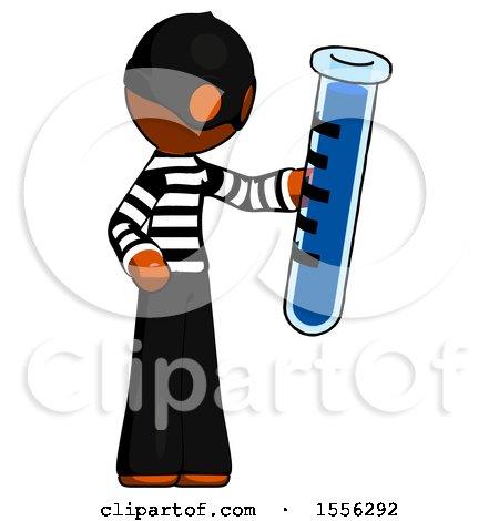 Orange Thief Man Holding Large Test Tube by Leo Blanchette