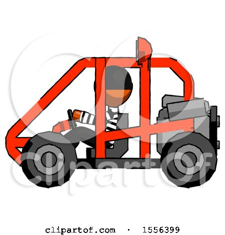 Orange Thief Man Riding Sports Buggy Side View by Leo Blanchette