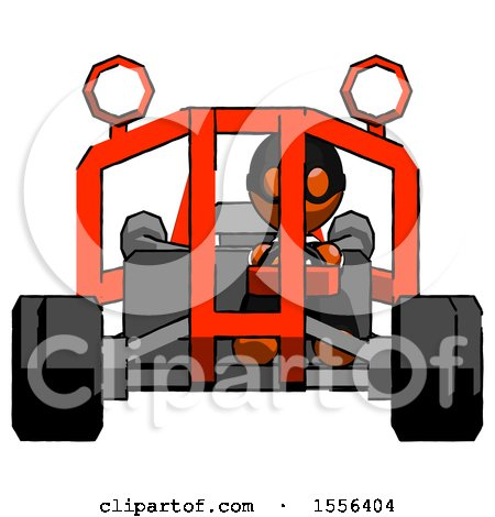 Orange Thief Man Riding Sports Buggy Front View by Leo Blanchette
