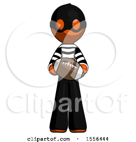 Orange Thief Man Giving Football to You by Leo Blanchette