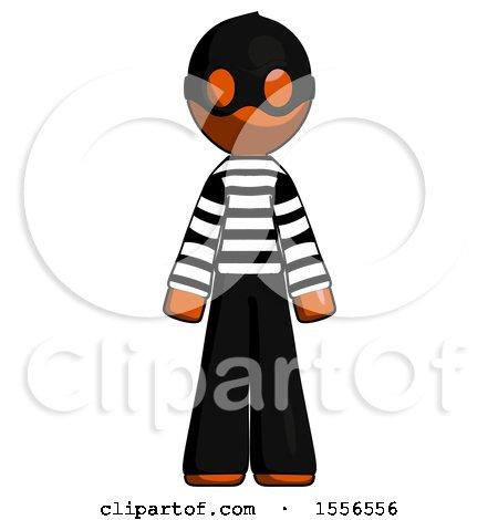 Orange Thief Man Standing Facing Forward by Leo Blanchette