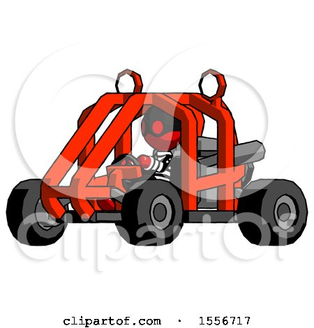 Red Thief Man Riding Sports Buggy Side Angle View by Leo Blanchette