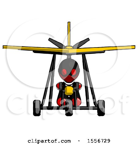 Red Thief Man in Ultralight Aircraft Front View by Leo Blanchette