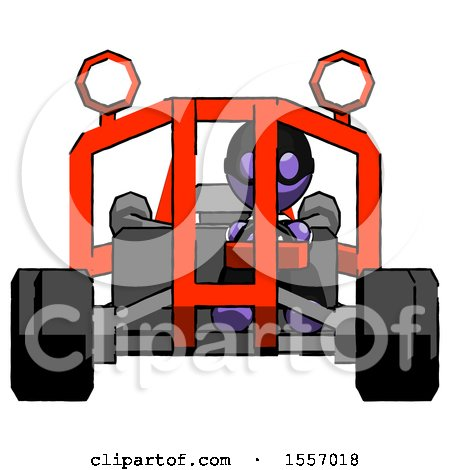 Purple Thief Man Riding Sports Buggy Front View by Leo Blanchette