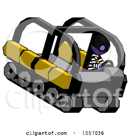 Purple Thief Man Driving Amphibious Tracked Vehicle Top Angle View by Leo Blanchette