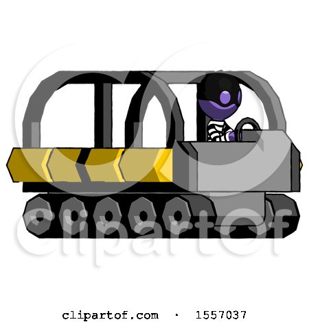Purple Thief Man Driving Amphibious Tracked Vehicle Side Angle View by Leo Blanchette