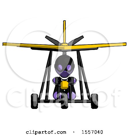 Purple Thief Man in Ultralight Aircraft Front View by Leo Blanchette