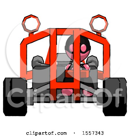 Pink Thief Man Riding Sports Buggy Front View by Leo Blanchette