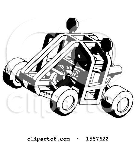 Ink Thief Man Riding Sports Buggy Side Top Angle View by Leo Blanchette