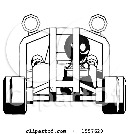 Ink Thief Man Riding Sports Buggy Front View by Leo Blanchette