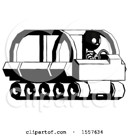 Ink Thief Man Driving Amphibious Tracked Vehicle Side Angle View by Leo Blanchette