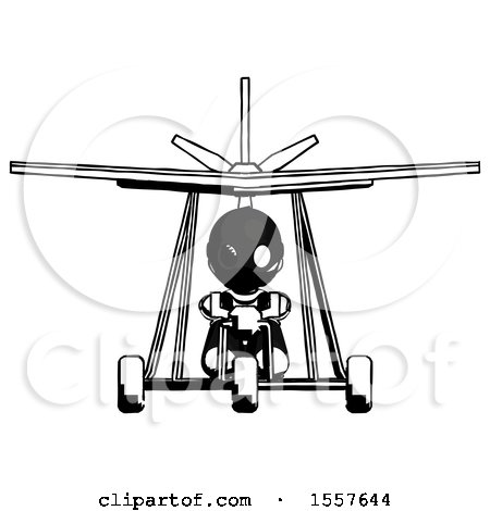 Ink Thief Man in Ultralight Aircraft Front View by Leo Blanchette