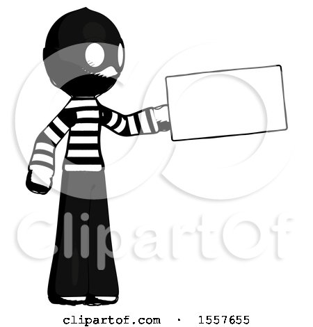 Ink Thief Man Holding Large Envelope by Leo Blanchette