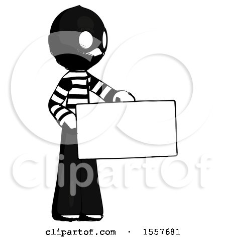 Ink Thief Man Presenting Large Envelope by Leo Blanchette