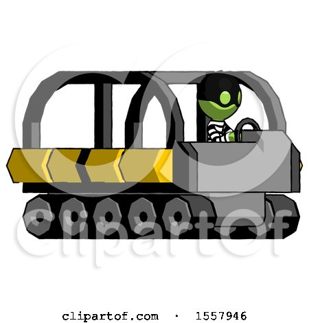 Green Thief Man Driving Amphibious Tracked Vehicle Side Angle View by Leo Blanchette