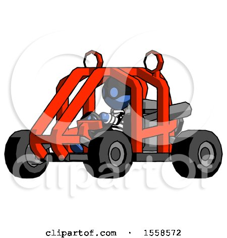 Blue Thief Man Riding Sports Buggy Side Angle View by Leo Blanchette