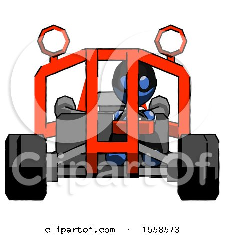 Blue Thief Man Riding Sports Buggy Front View by Leo Blanchette