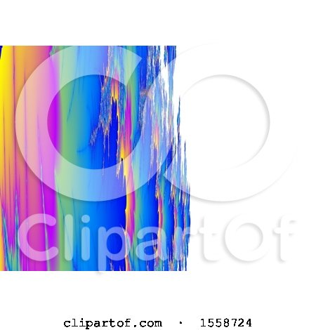 Clipart of a Brush Styled Fractal Background - Royalty Free Illustration by dero