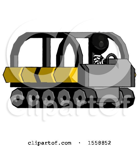 Black Thief Man Driving Amphibious Tracked Vehicle Side Angle View by Leo Blanchette