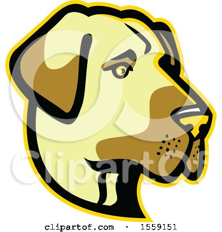 Clipart of a Retro Anatolian Shepherd Dog Mascot - Royalty Free Vector Illustration by patrimonio