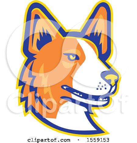 Clipart of a Retro Cardigan Welsh Corgi Dog Mascot - Royalty Free Vector Illustration by patrimonio