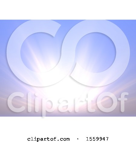 Clipart of a Morning Sky Background - Royalty Free Illustration by dero
