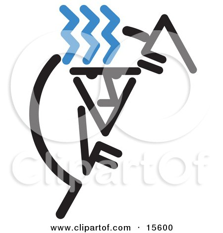 Man Climbing A Steep Cliff Clipart Illustration by Andy Nortnik