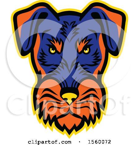 Clipart of a Retro Angry Jagdterrier Dog Mascot - Royalty Free Vector Illustration by patrimonio