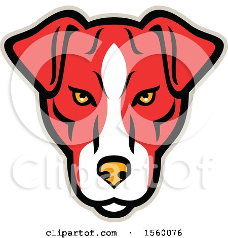 Clipart of a Retro Plummer Terrier Dog Mascot - Royalty Free Vector Illustration by patrimonio