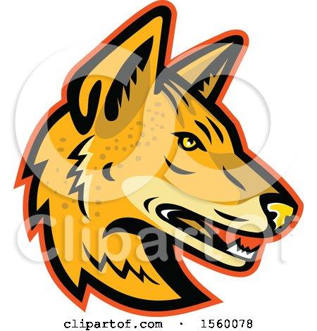 Clipart of a Retro Arabian Wolf Dog Mascot - Royalty Free Vector Illustration by patrimonio