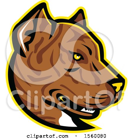 Clipart of a Retro Spanish Bulldog Alano Espanol Dog Mascot - Royalty Free Vector Illustration by patrimonio