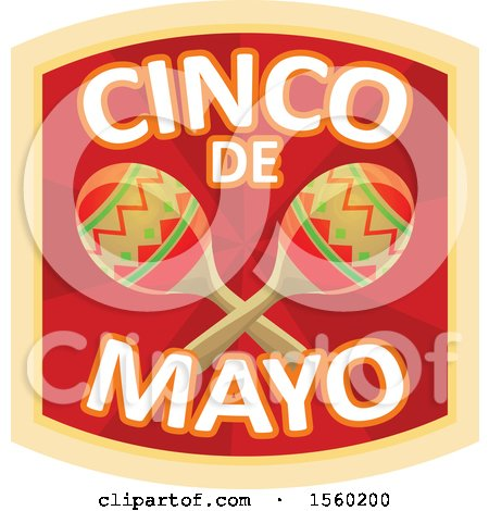 Clipart of a Cindo De Mayo Design with Maracas - Royalty Free Vector Illustration by Vector Tradition SM