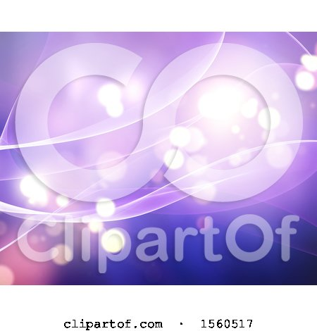Clipart of a Purple Flare Background - Royalty Free Illustration by KJ Pargeter