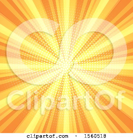 Clipart of a Yellow and Orange Burst Background - Royalty Free Vector Illustration by KJ Pargeter