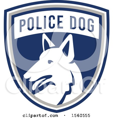 Clipart of a Retro German Shepherd Police Dog in a Shield - Royalty Free Vector Illustration by patrimonio