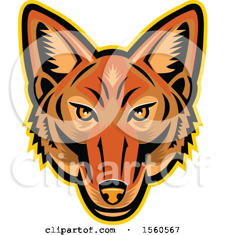 Clipart of a Jackal Mascot Head - Royalty Free Vector Illustration by patrimonio