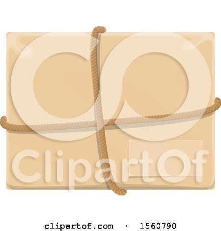 Clipart of a Package - Royalty Free Vector Illustration by Vector Tradition SM