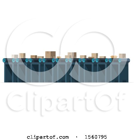 Clipart of a Post Office Conveyor Belt - Royalty Free Vector Illustration by Vector Tradition SM