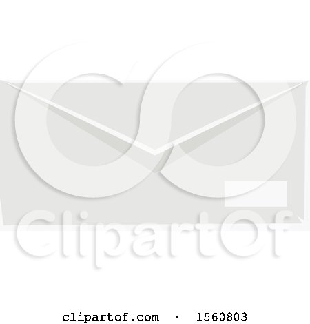 Clipart of a White Envelope - Royalty Free Vector Illustration by Vector Tradition SM