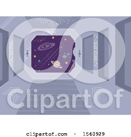 Clipart of a Space Ship Windo - Royalty Free Vector Illustration by BNP Design Studio