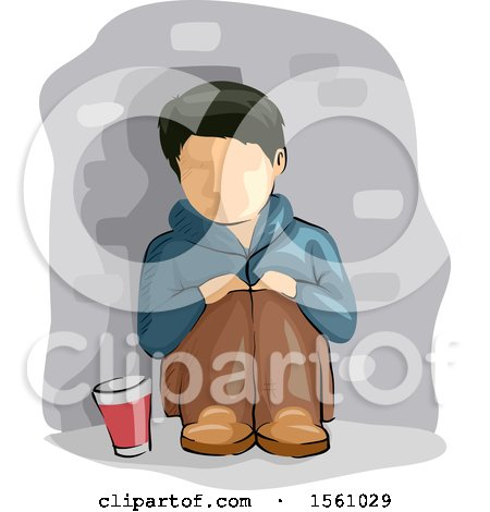 Homeless Boy with a Glass for Alms Posters, Art Prints