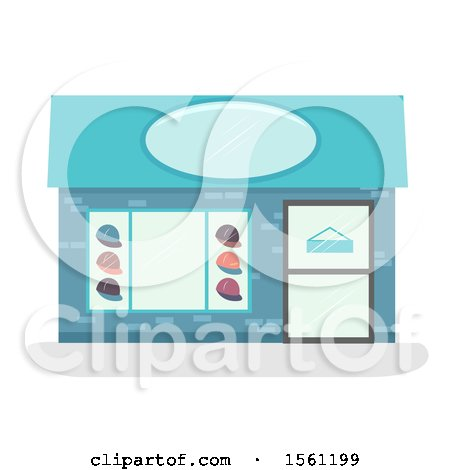 Clipart of a Hat Store Front - Royalty Free Vector Illustration by BNP Design Studio