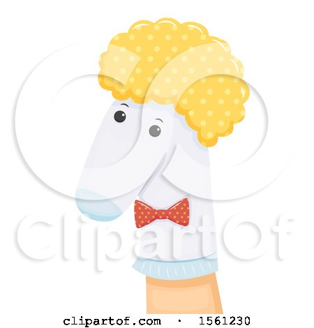 Clipart of a Hand with a Sock Puppet - Royalty Free Vector Illustration by BNP Design Studio