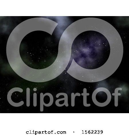 Clipart of a Nebula Night Sky Background - Royalty Free Illustration by KJ Pargeter