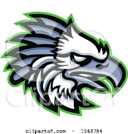 Clipart of a Profiled American Harpy Eagle Mascot Head - Royalty Free Vector Illustration by patrimonio