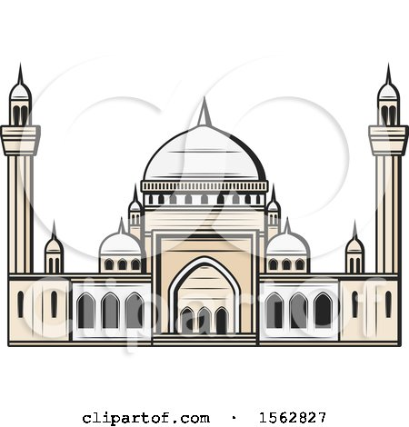 Clipart of a Muslim Mosque - Royalty Free Vector Illustration by Vector Tradition SM